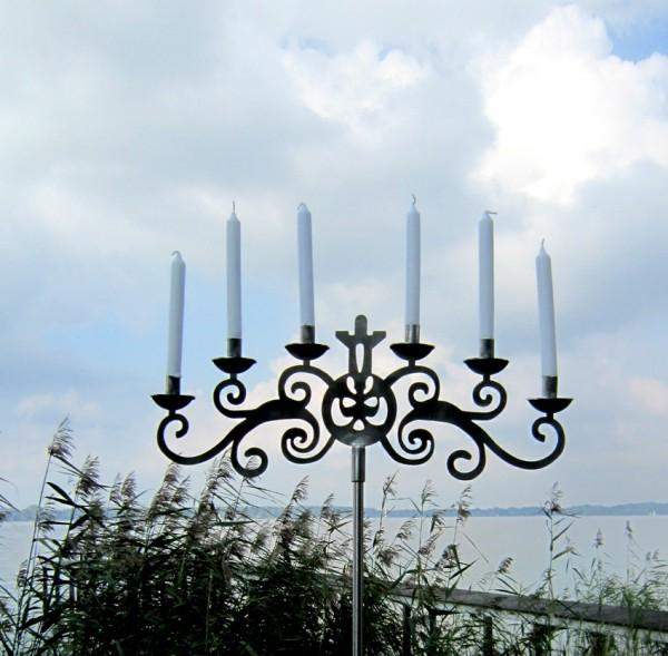 Edelstahl Kerzenhalter, Gartendekoration