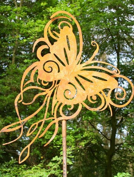 Rost Pflanzenstecker,Schmetterling Paradiso klein
