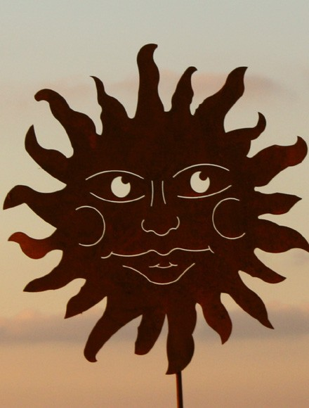 Gartenstecker Große Sonne