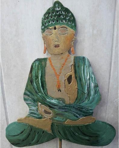 Buddha bunt Gartenstecker