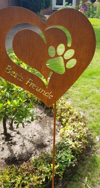 Gartenstecker Beste Freunde
