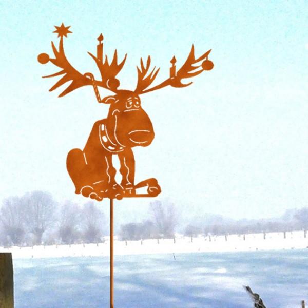 """Weihnachtsdeko Blumentopfstecker """" High Rudolf"""""""