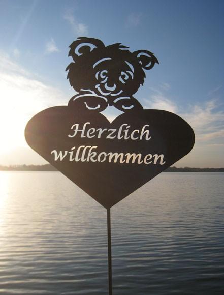 Gartenstecker Teddyherz