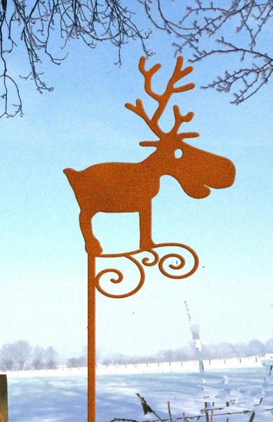 Gartenstecker Rentier Rudolf
