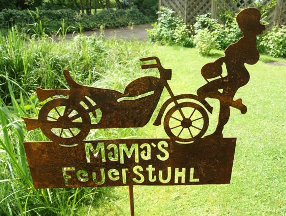 Gartenstecker Mamas Feuerstuhl