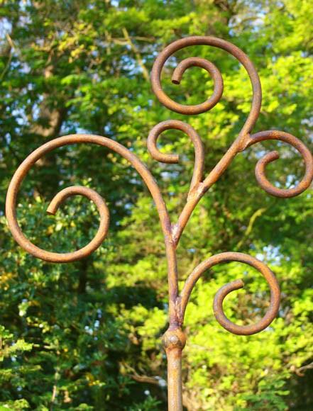 Natur-Rost Laternerhalter Blumenampelstab