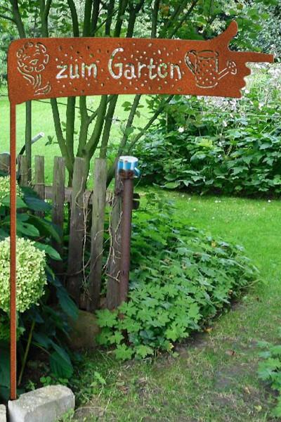 """Gartenstecker """" zum Garten"""""""