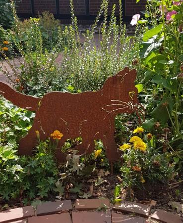 Gartendekoration Kater Tiger