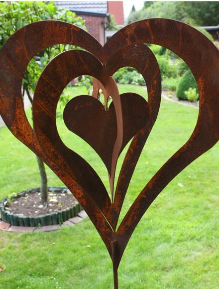 Edel-Rost Herz ( in sich drehbar)