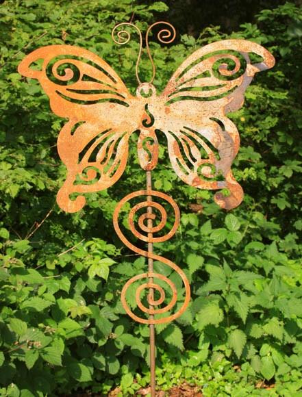 Gartenstecker Schmetterling, XXL