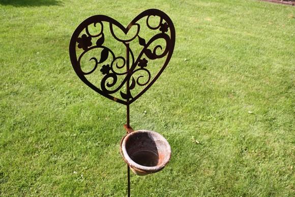 Gartenstecker Herzchen groß KOPIE