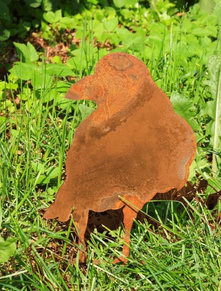 Rost Gartenstecker Rabe
