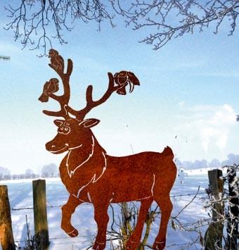 Weihnachtsdeko Rost Hirsch hat Gäste groß