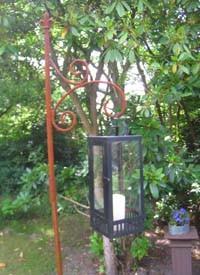 Blumenampelhalter / Laternenhalter zweiteilig