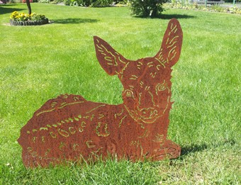 Gartendekoration Rehkitz Tosca Tierskulptur
