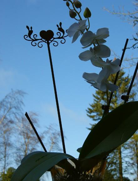 Blumentopfstecker Herzornament Ich liebe Dich klein