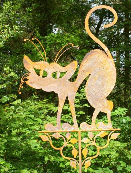 Gartenstecker Katze Mimi XXL