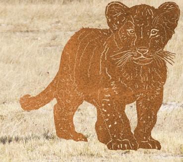 """Tierskulptur Löwen Kind """" Simba"""""""