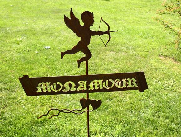Gartenstecker Mon amour (mein Liebling)