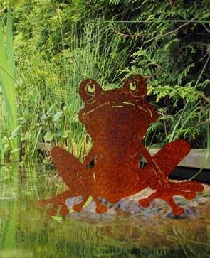 Gartenteich deko Frosch