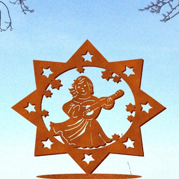 Weihnachtsdeko Himmlische Klänge auf Platte gr