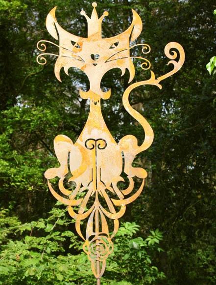 Edelrost Gartenstecker King Lui groß