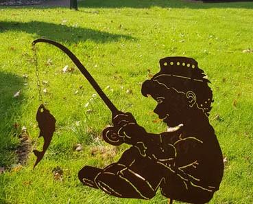 Gartenteich-Dekoration Mäxchen angelt