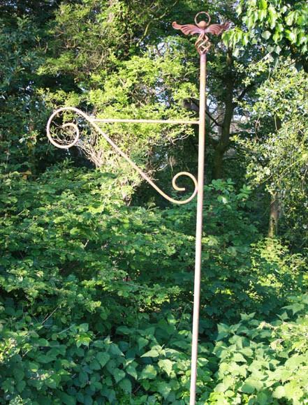 Blumenampel -Laternen-Stab